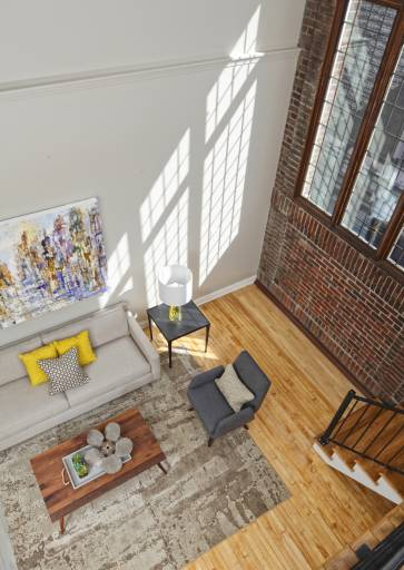 architectural photography city loft living lafayette lofts