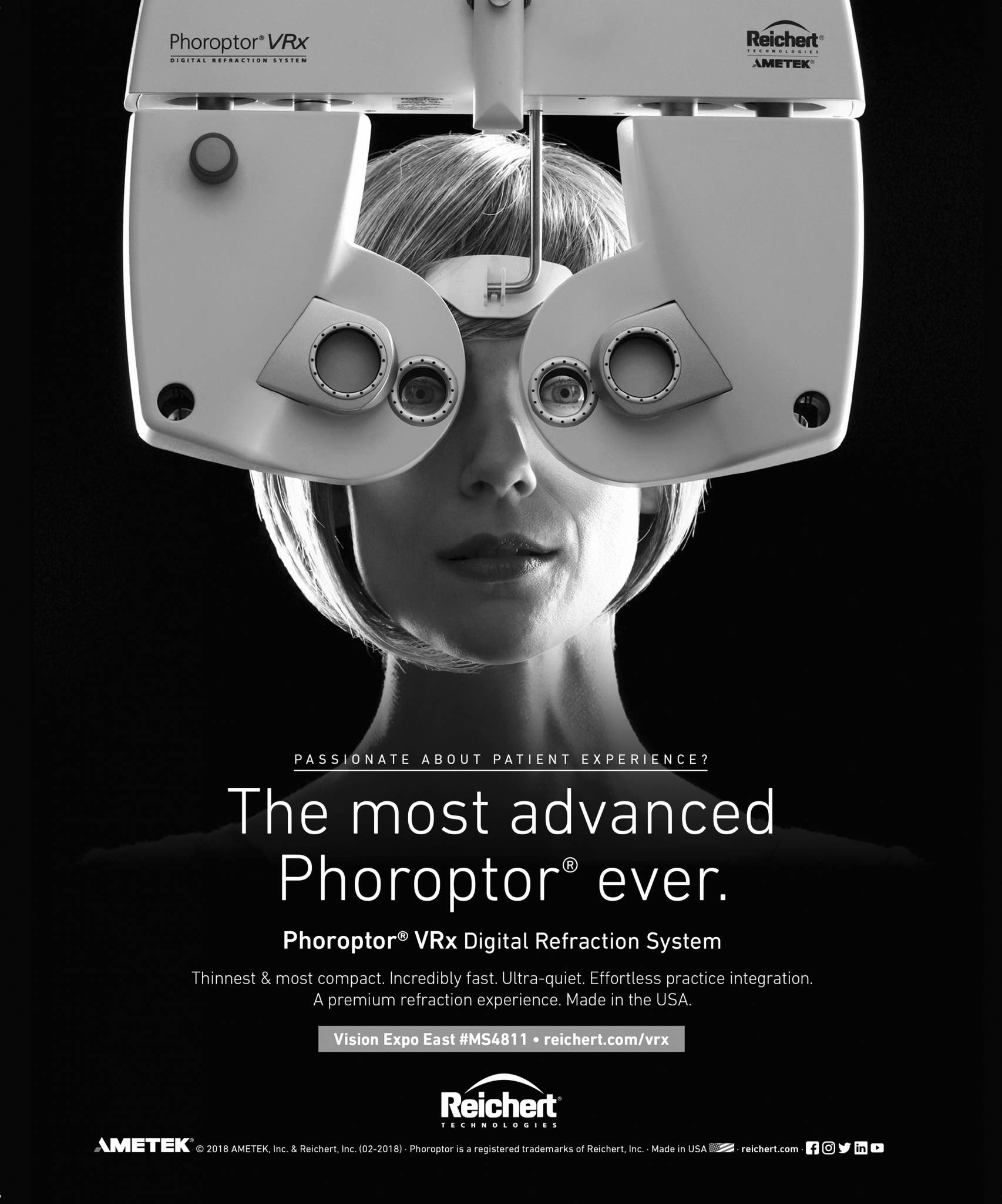 Phoroptor Reichert product photography