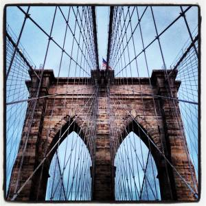 architectural photography instagram Brooklyn Bridge