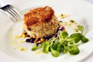 seafood photography  crab cake