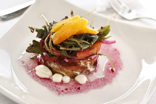 food and beverage photo beet salad with field greens