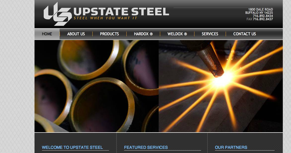industrial photography in Buffalo, NY steel fabrication images