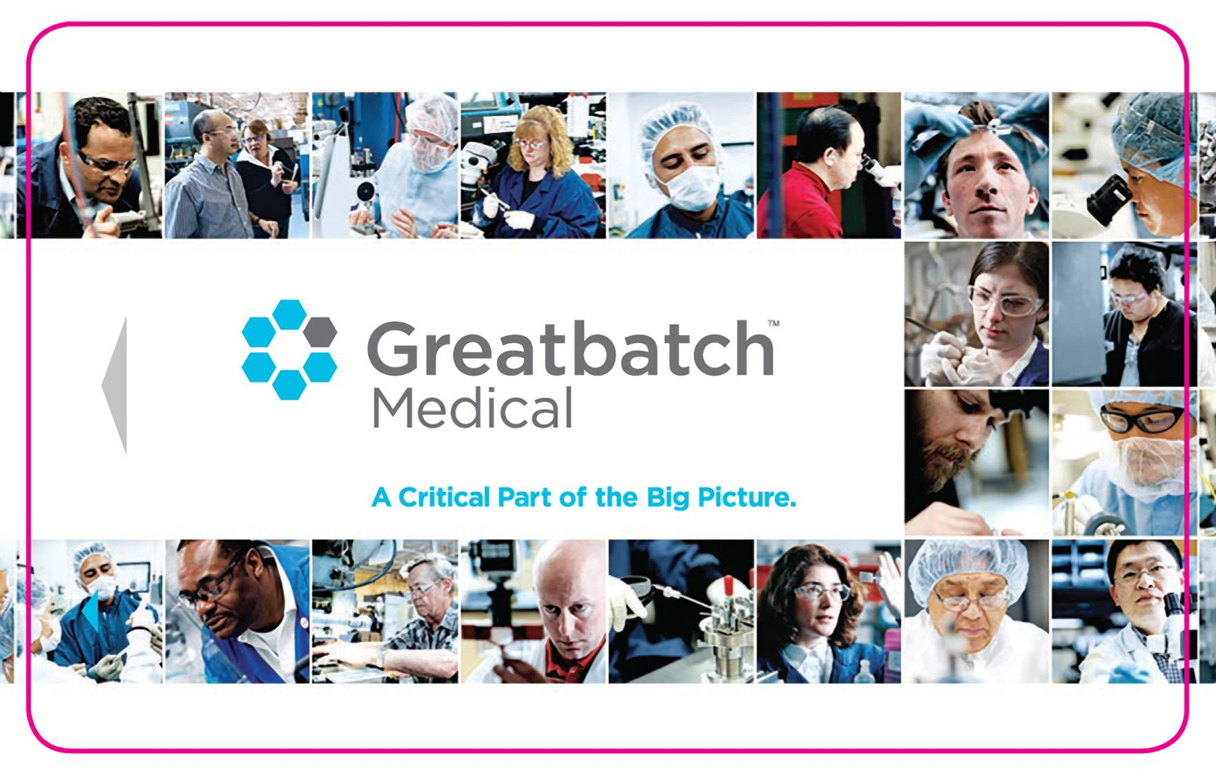 Greatbatch Keycard portraits of researchers and industrial factory workers