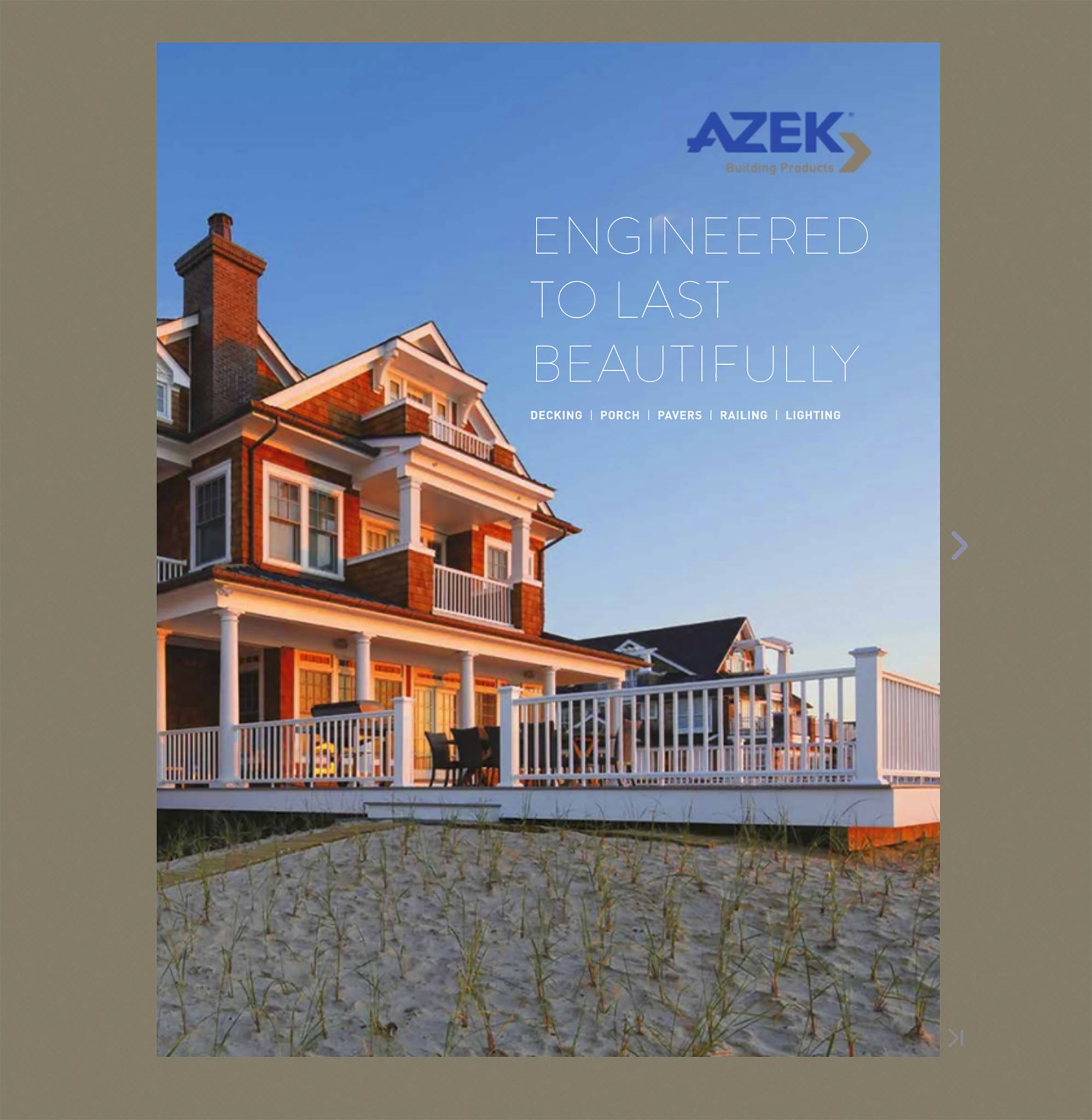 architectural photography Azek residential decking & trim location photography