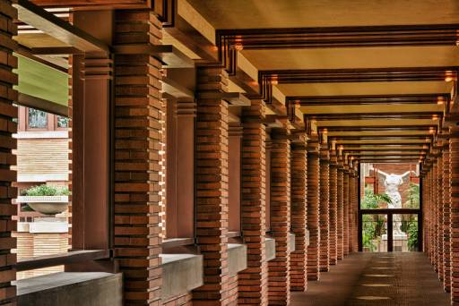 architectural photography darwin martin house pergola frank lloyd wright design
