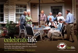 senior living celebrate life fox run patio party