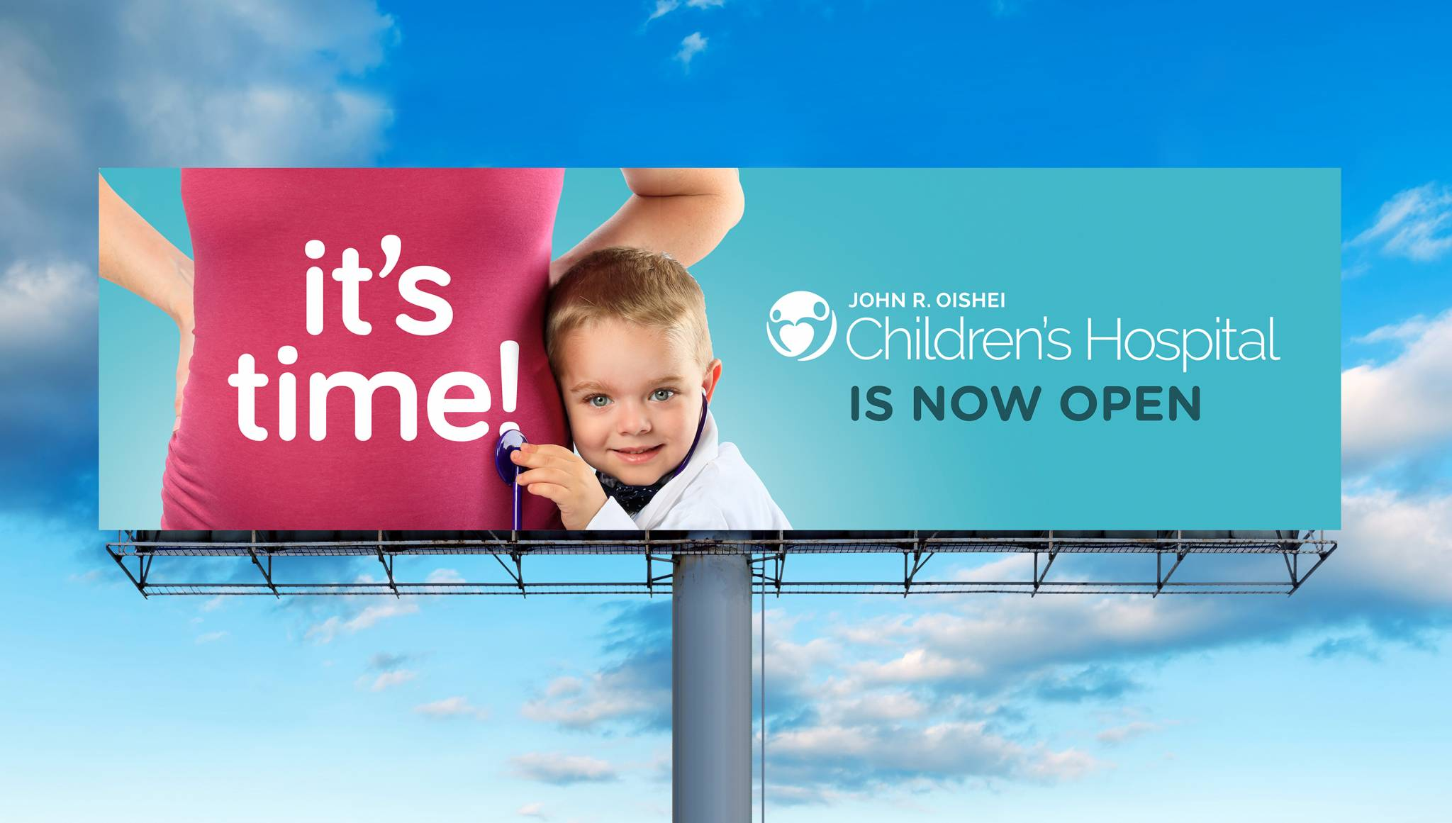 brand Identity photography outdoor advertising campaign Oishei Children's  Hospital